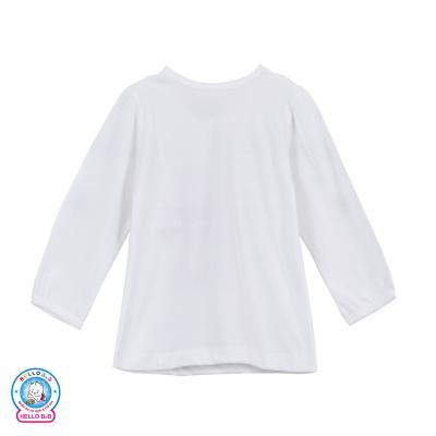 Áo trắng in bé gái tay dài 1169