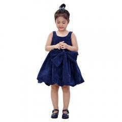 Đầm dạ hội 11004 BCB (Blue Corduroy Blue Bow) 0943