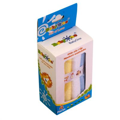 Khăn sữa BabyOne (1 lớp) 0650 (HỘP 4 CÁI)