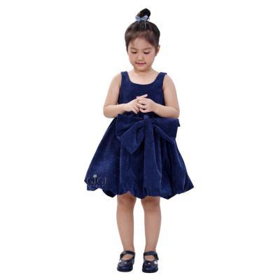 Đầm dạ hội 11004 BCB (Blue Corduroy Blue Bow)