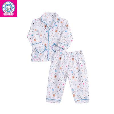 Bộ Pyjamas bông dài bé gái 0263